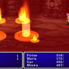 Fire3 cast on the enemy party in <i><a href=
