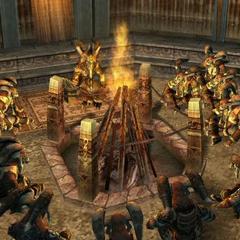Garif's bonfire.