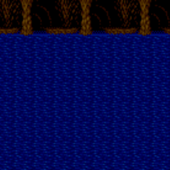 Battle background on water (SNES).