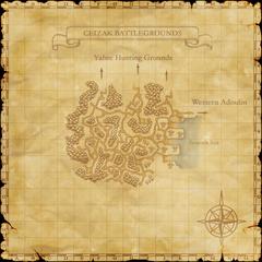 The map of Ceizak Battlegrounds.
