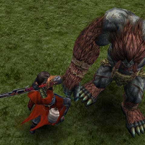 Ogre in battle.
