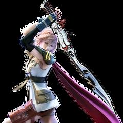 Lightning armed with her Blazefire Saber.