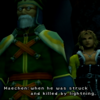 Maechen met on the Thunder Plains in <i>Final Fantasy X</i>.
