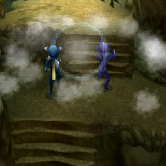 The mist gathering in the cave (DS/iOS).