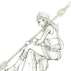 Concept art of Fang's CG render.