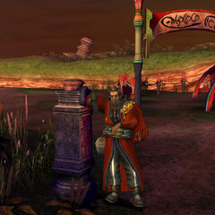Auron outside [[[Rin's Travel Agency]] in <a href=