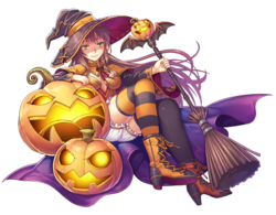 FFLTnS Pumpkin Witch Artwork
