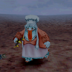 Quina's victory pose.