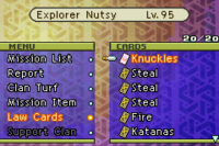 FFTA Law Cards Menu