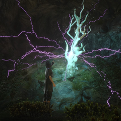 Noctis receives Ramuh's blessing.