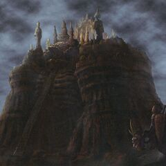 Concept artwork of Alexander from <i>Final Fantasy IX</i>.