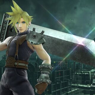 Screen shot of Cloud in-game.