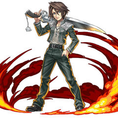 Squall's SeeD cadet uniform in <i>Puzzle &amp; Dragon</i>.