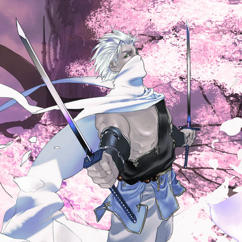 Artwork of Edge's card in the <i>Lord of Vermilion</i> series.