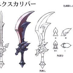 Alternate concept artwork for the Excalibur.