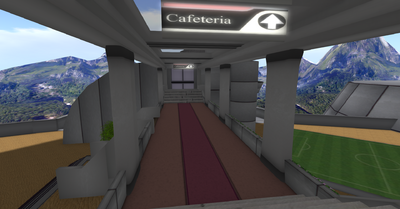 Cafeteria Walkway