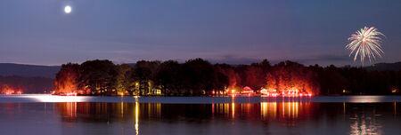 Lamoka lake flare night