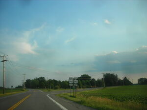 South end of NY Route14A and NY Route 245 overlap