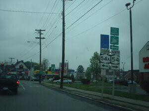New york state route 14a intersection crossing 54a in penn yan