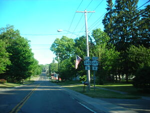 NY Route 245 and NY Route 247 in Rushville