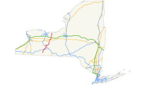 NY state Route 21 map