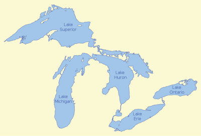 Map of the Great-Lakes