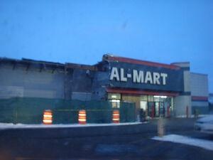 Geneva Wal-mart sign under construction-Al Mart