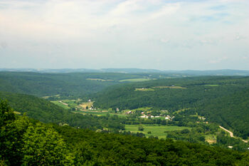 Canisteo River valley from Pinnacle Park