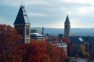 Cornell University McGraw Hall and Tower