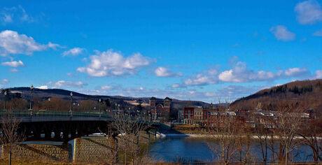 Owego skyline from across the Susquehanna River