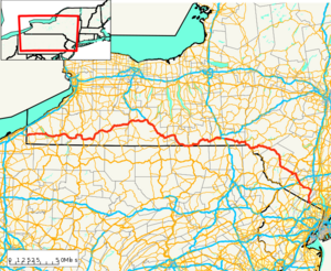 New York State Route 17 map