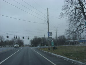 Intersection of NY Route 318 and NY Route 414