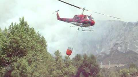 Station Fire - Helicopter Getting Water 1
