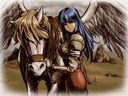 Shiida and her pegasus
