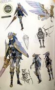 TMS concept art of Caeda as a Falcon Knight class