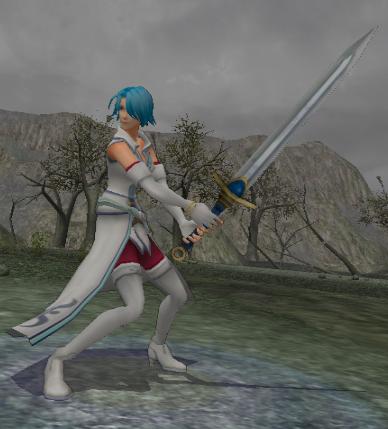 File:FE10 Swordmaster (Lucia) -Post-haircut-.png