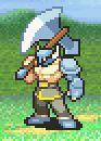 Garret in battle