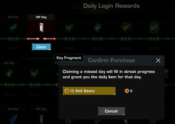 Daily Login Rewards - Missing Streak