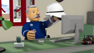 Station Officer Steele helmet