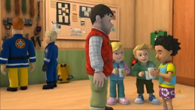 File:Sam, Penny, Moose and the Pioneers inside the Mountain Activity Centre.png