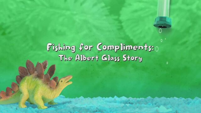 File:Fishing For Compliments The Albert Glass Story title card.jpg