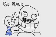 318 FNAC 2 minigame drawing Blank beard child