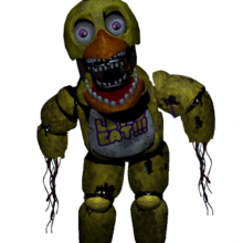 Withered chica switched with withered freddy by matgamer281-d8x80re