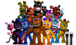 Titlescreen animatronics by foxyboyeditz-d9ze22z