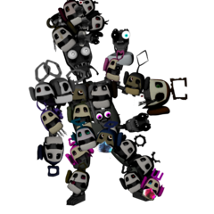 Cluster of Prototype OC's Heads on a Original (With His Right Leg  More Fixed), by XxXWitheredToyBonniexXx.
