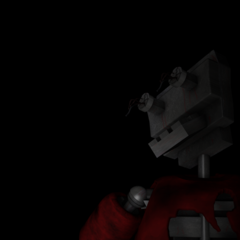 Po's endoskeleton head being revealed in the title screen, prior to the revamp.