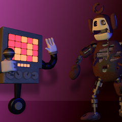 An image of Prototype Po with Mettaton from Undertale, from Critolious's DeviantArt.