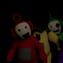 The Beta tubbybots from the title screen.