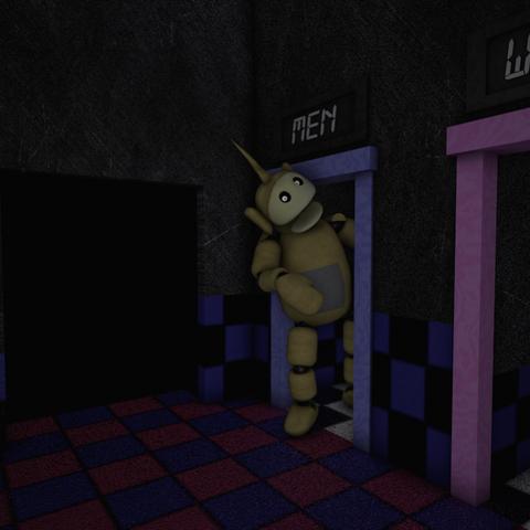 Laa-Laa in the Tubby Toilets.