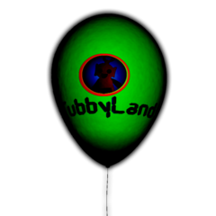 The Tubbyland balloon, with a design of Po on it.